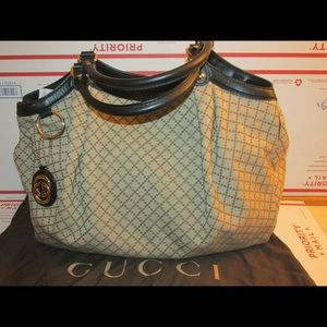 Authentic Gucci Diamante Large canvas tote